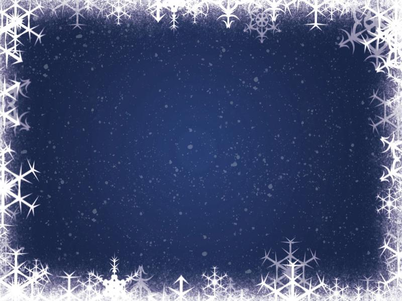 Xmas Snowflakes Frame Picture PPT Backgrounds