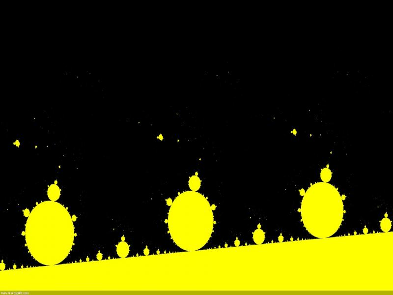 Yellow Fractals Backgrounds