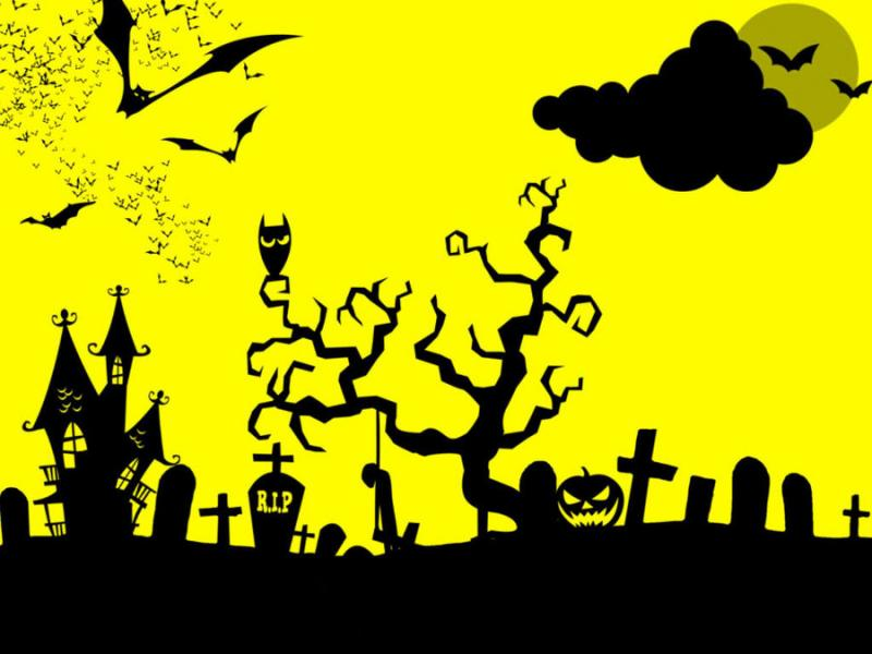 Yellow Halloween PPT Backgrounds