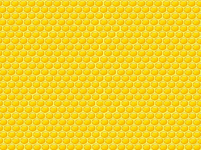 Yellow Honeycomb Quality Backgrounds