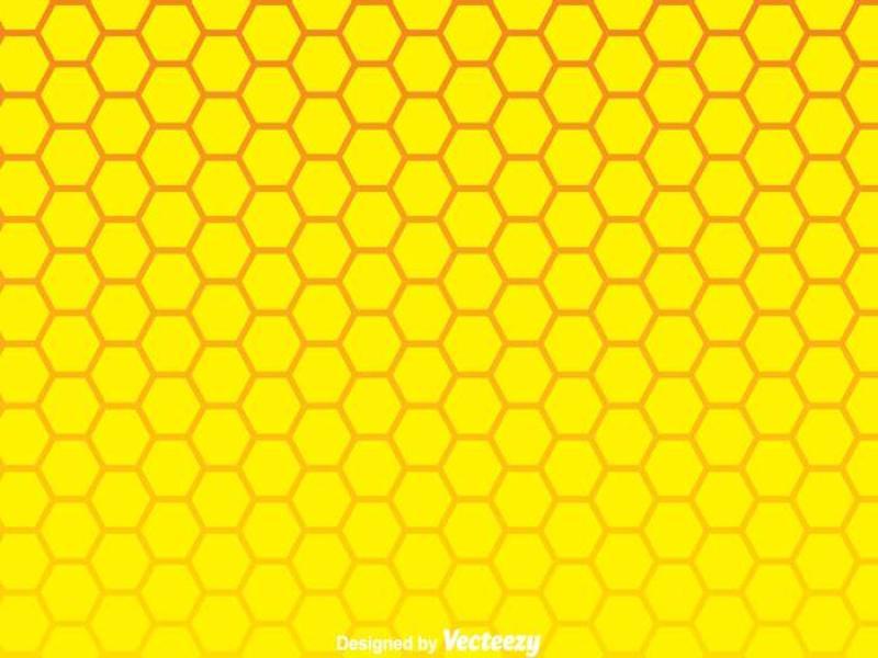 Yellow Honeycomb Wallpaper Backgrounds