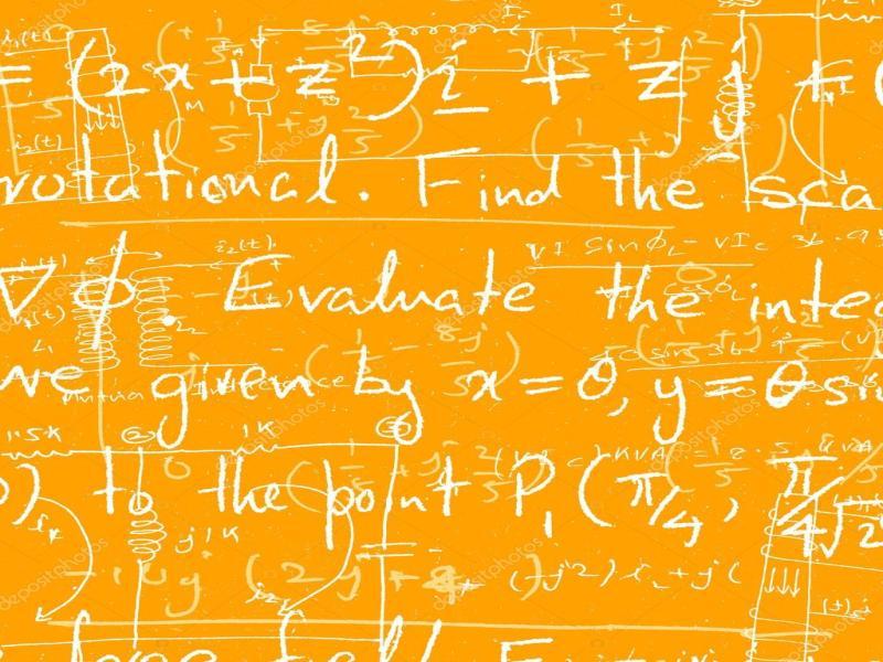 Yellow Mathematical Backgrounds