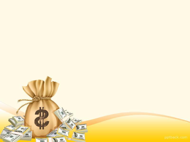 Yellow Money Slide Backgrounds