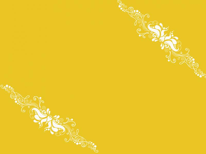 Yellow Ornaments Backgrounds