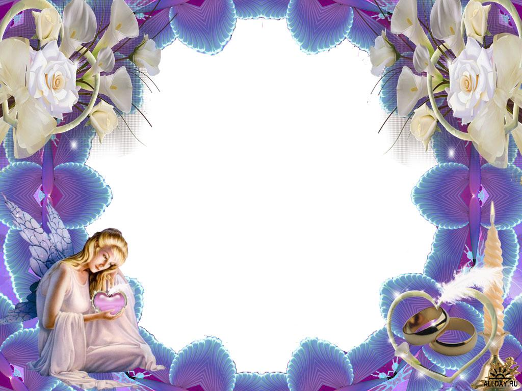 Angel For Border and Frame Templates Graphic PPT Backgrounds