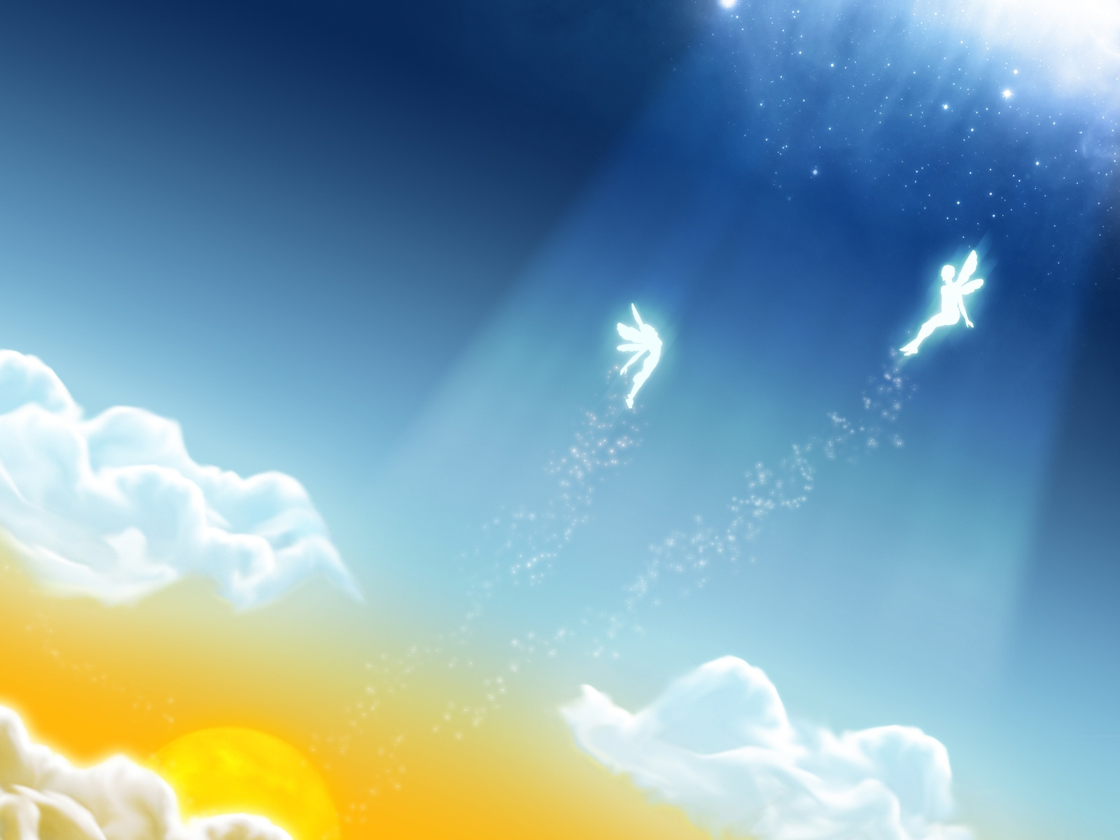 Angels In The Sky Miscellaneous PPT Backgrounds