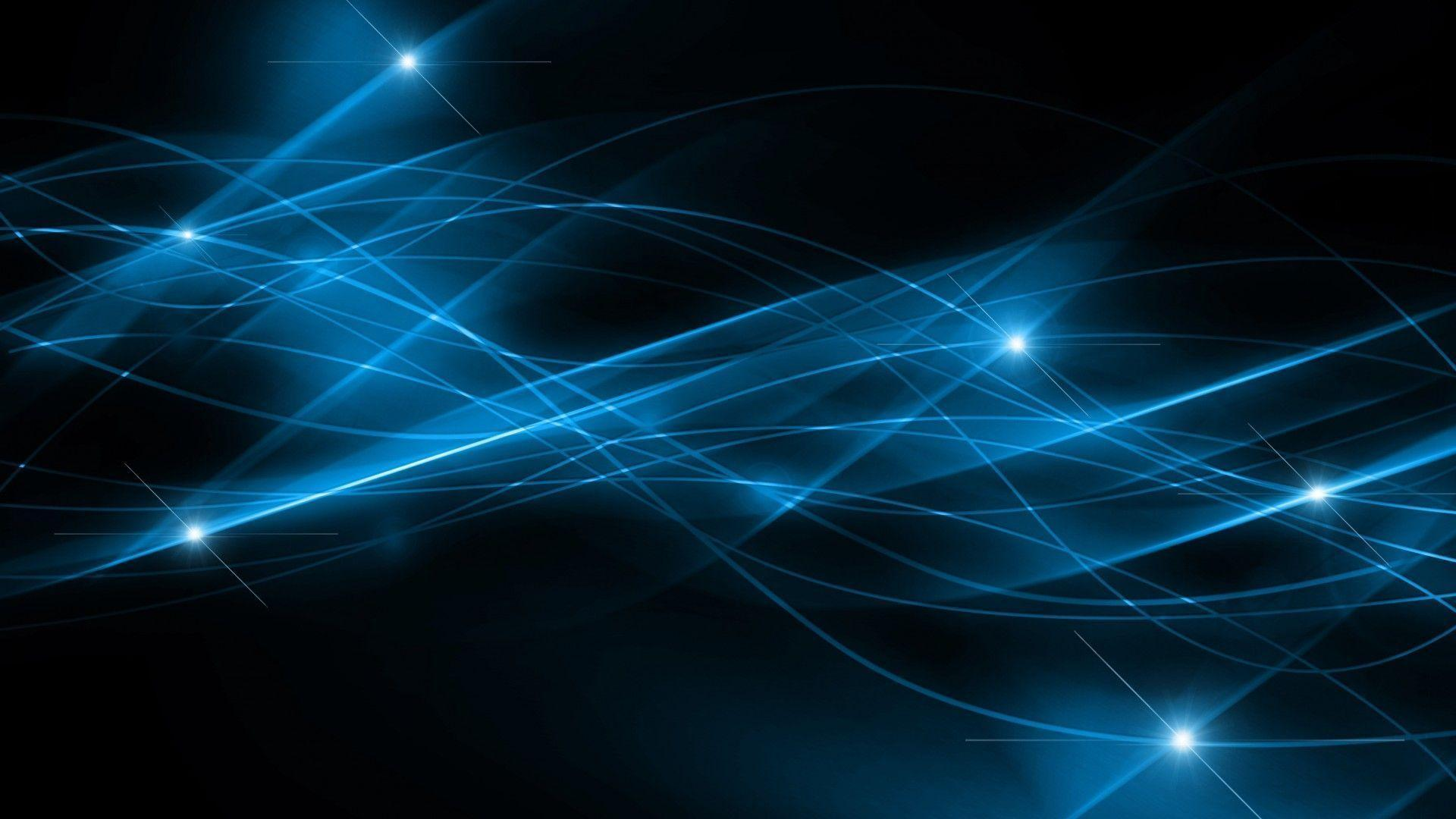 Black and Blue Abstract PPT Backgrounds