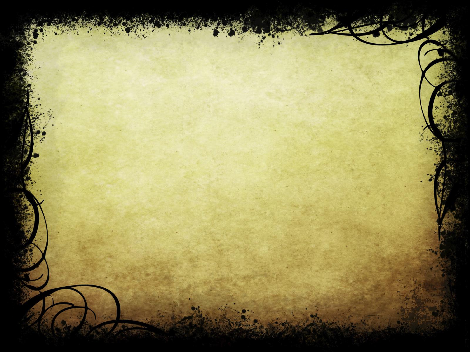 Black Vintage Frame PPT Backgrounds