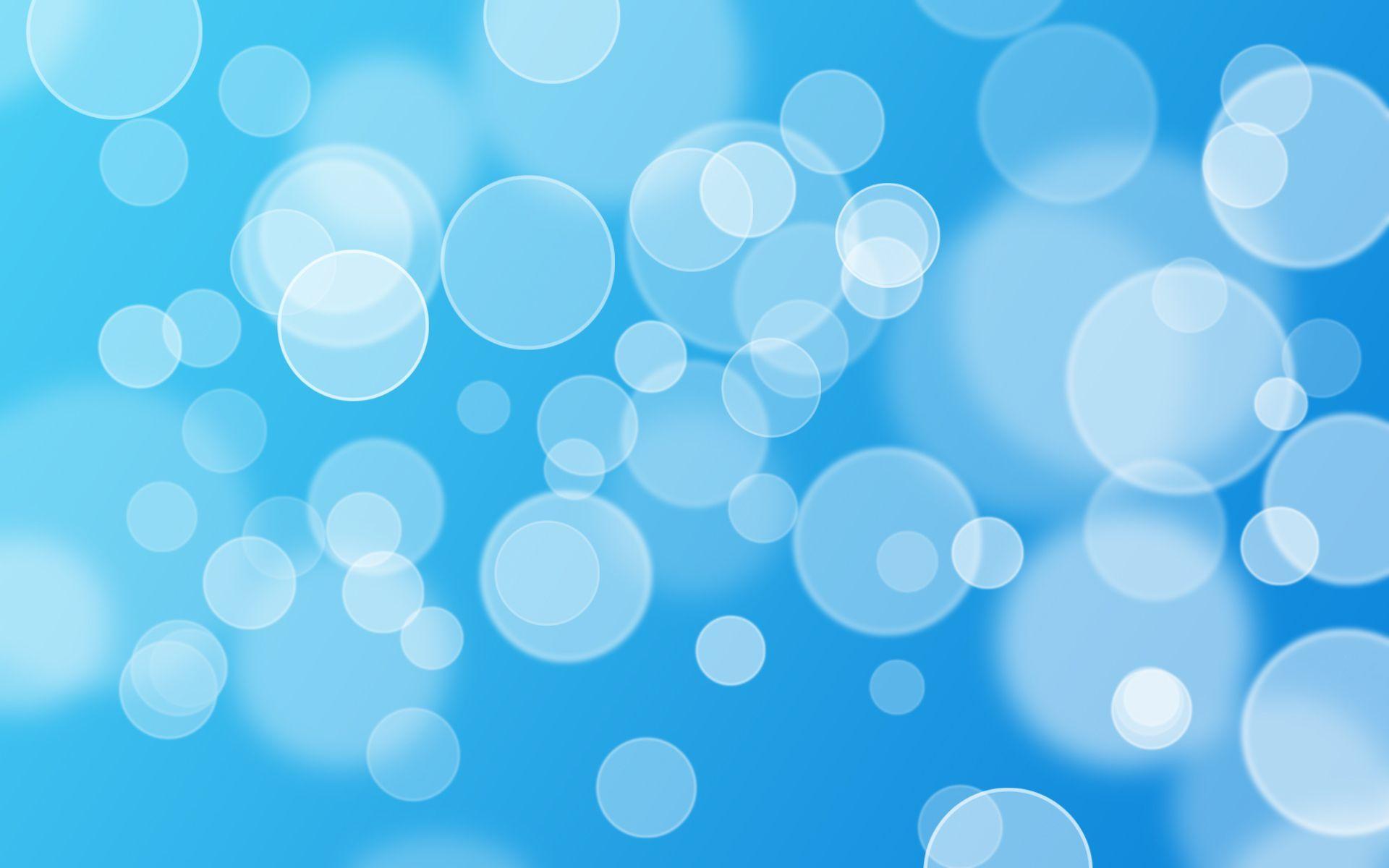 Blue Bubbles Clip Art PPT Backgrounds
