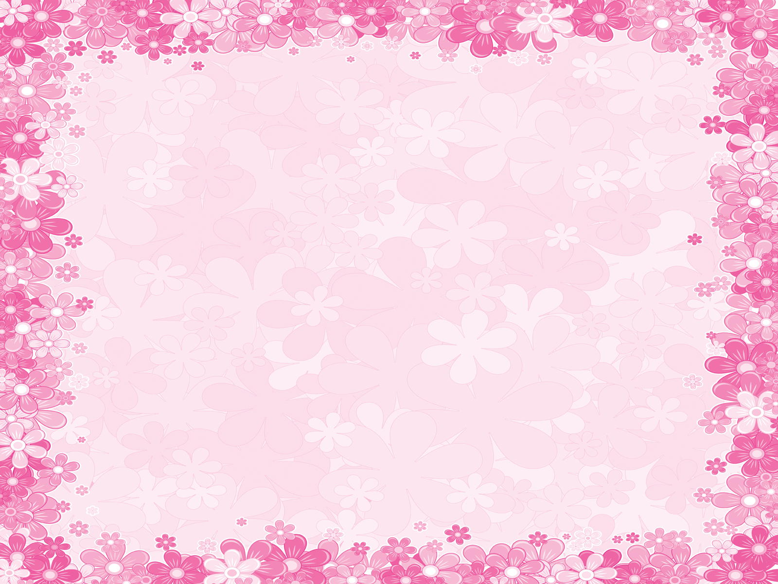 Borders Pink Floral Frames Graphic Backgrounds For Powerpoint