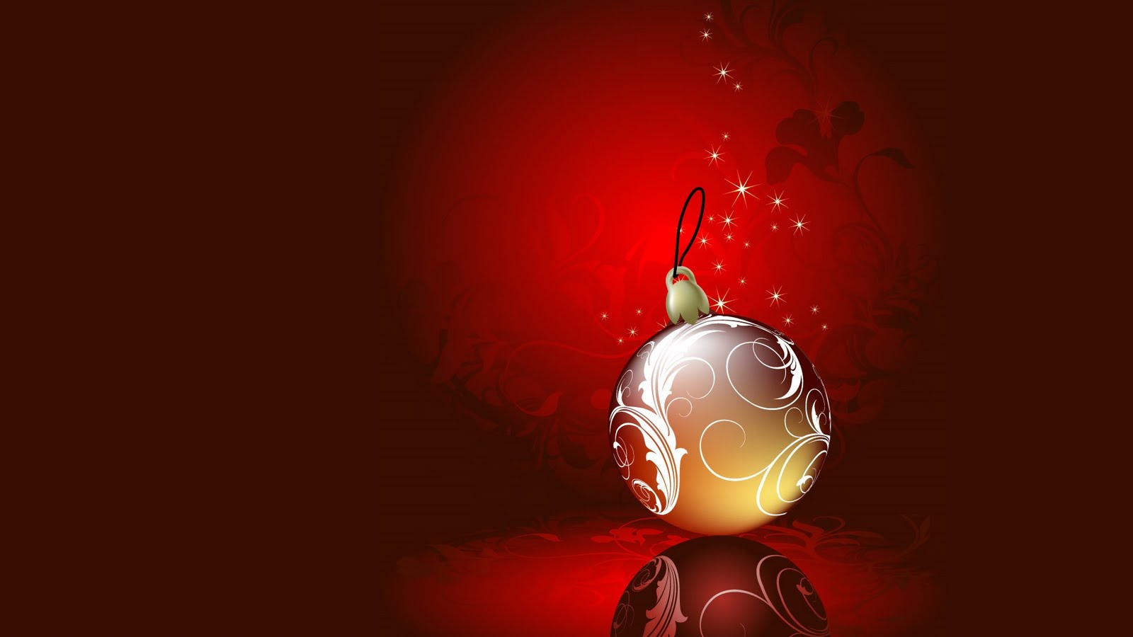 Christmas Ball Ornaments Hd Design PPT Backgrounds