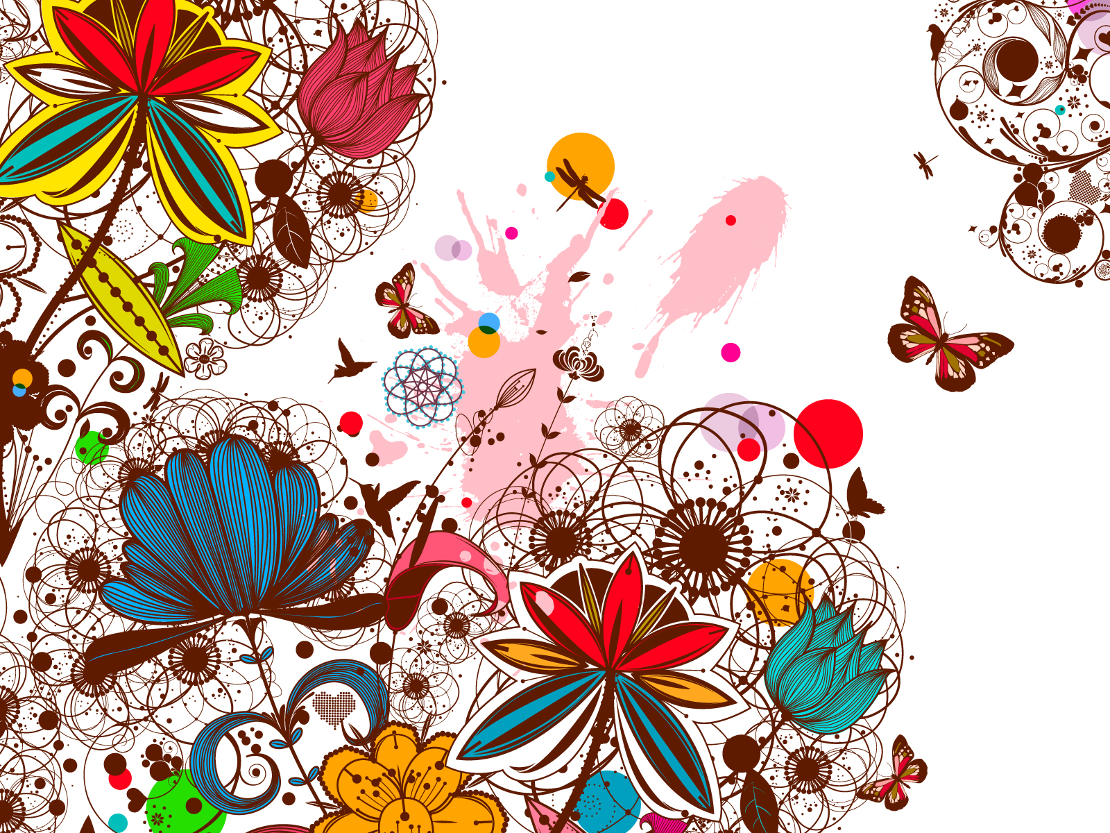 Creative Vintage Floral Backgrounds For Powerpoint Templates Ppt