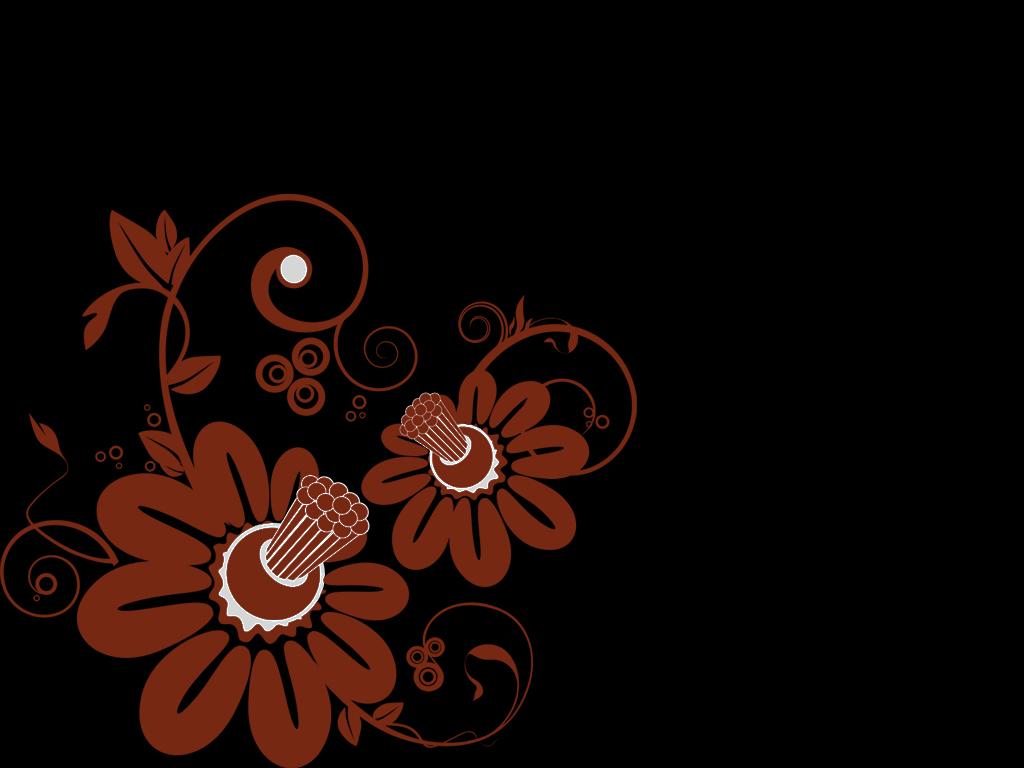 Download Free Dark Floral Wallpaper Ppt Backgrounds