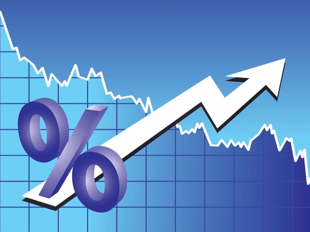 Finance Chart  3D Blue Business White Slides PPT Backgrounds