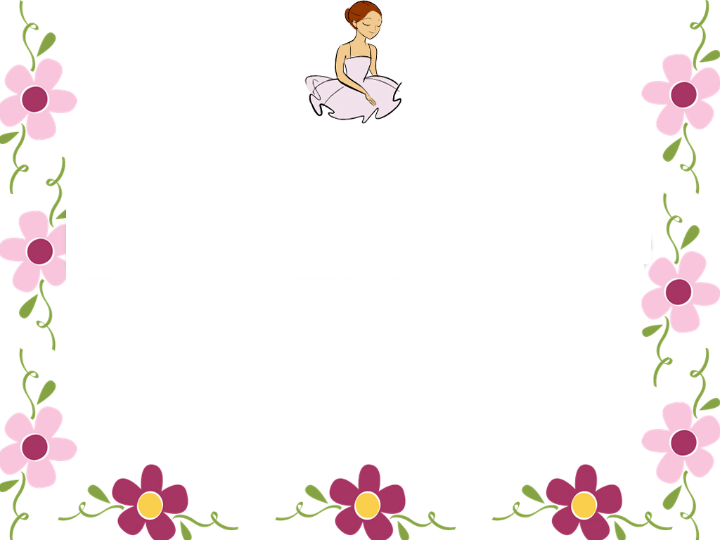 Floral Border Graphic PPT Backgrounds