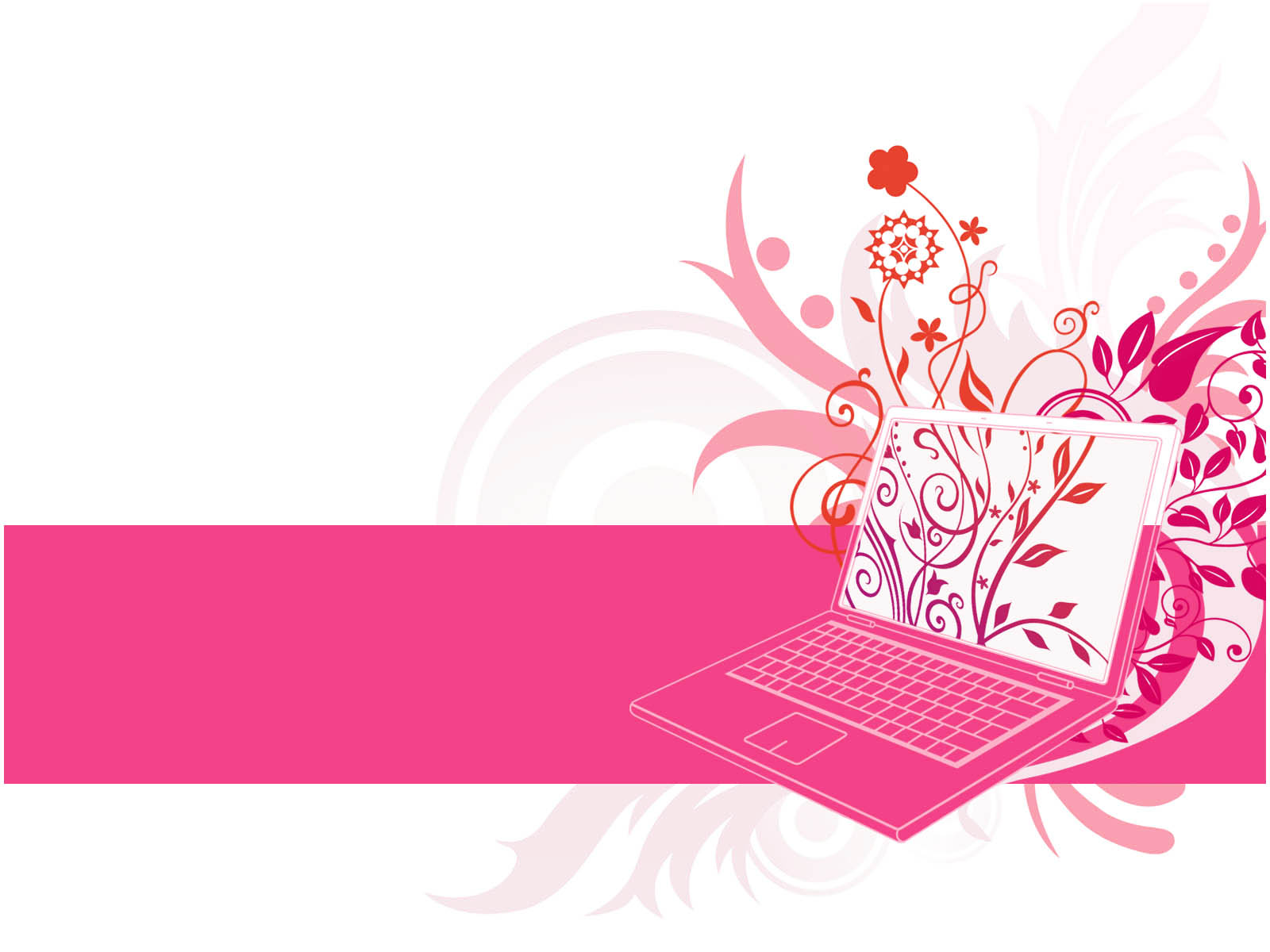 Floral Laptop Design Ppt Templates Picture Backgrounds For