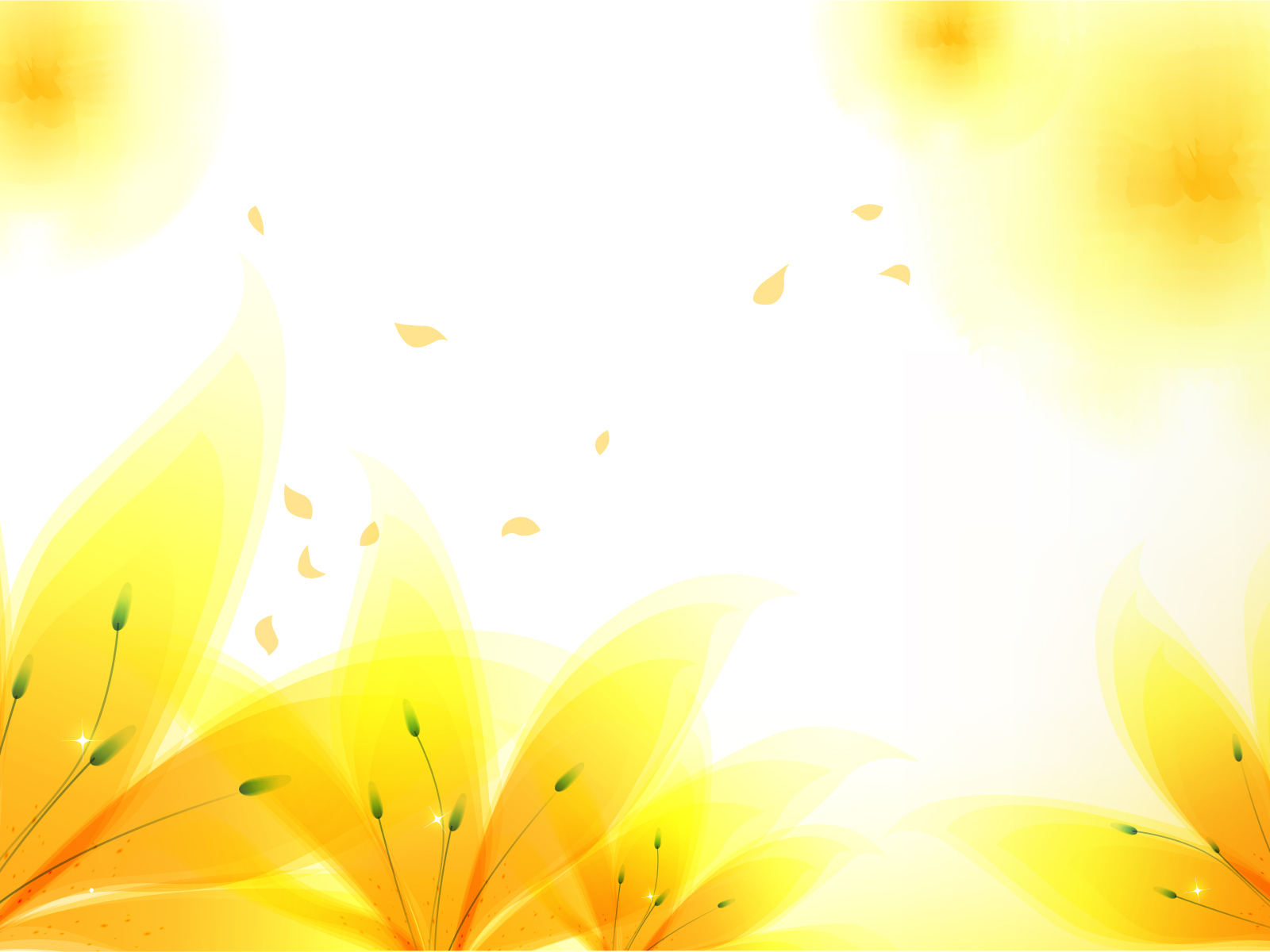 Fresh Yellow Flowers Flowers Yellow Ppt Design Backgrounds For