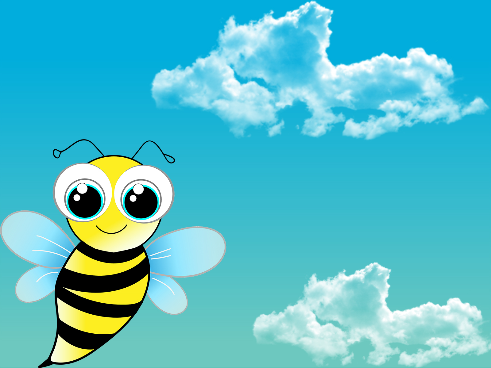 Funny Cute Bee PPT Backgrounds