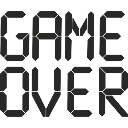 Game Over Png Design PPT Backgrounds
