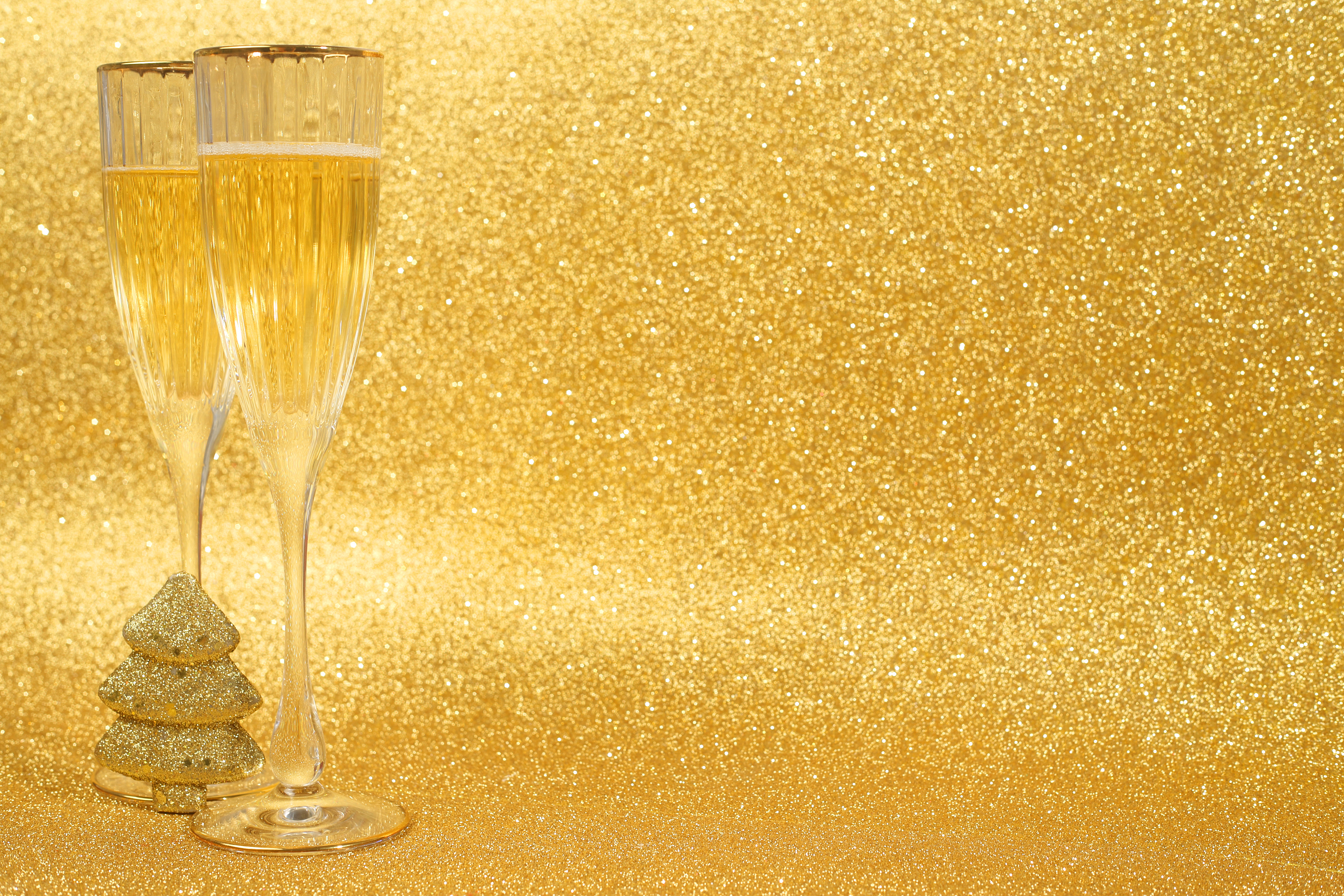 gold new year wallpaper ppt backgrounds