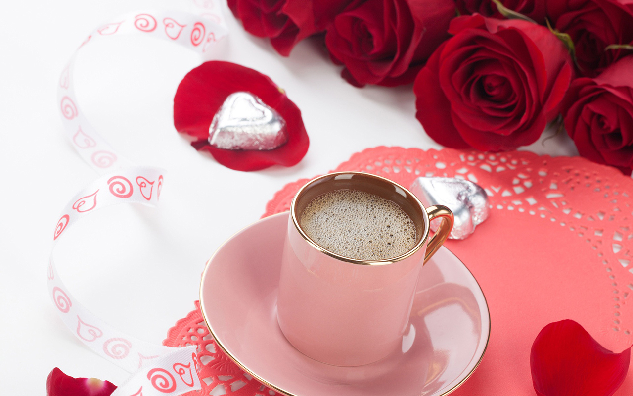 Download Free Good Morning With Red Rose Flower Picture Ppt