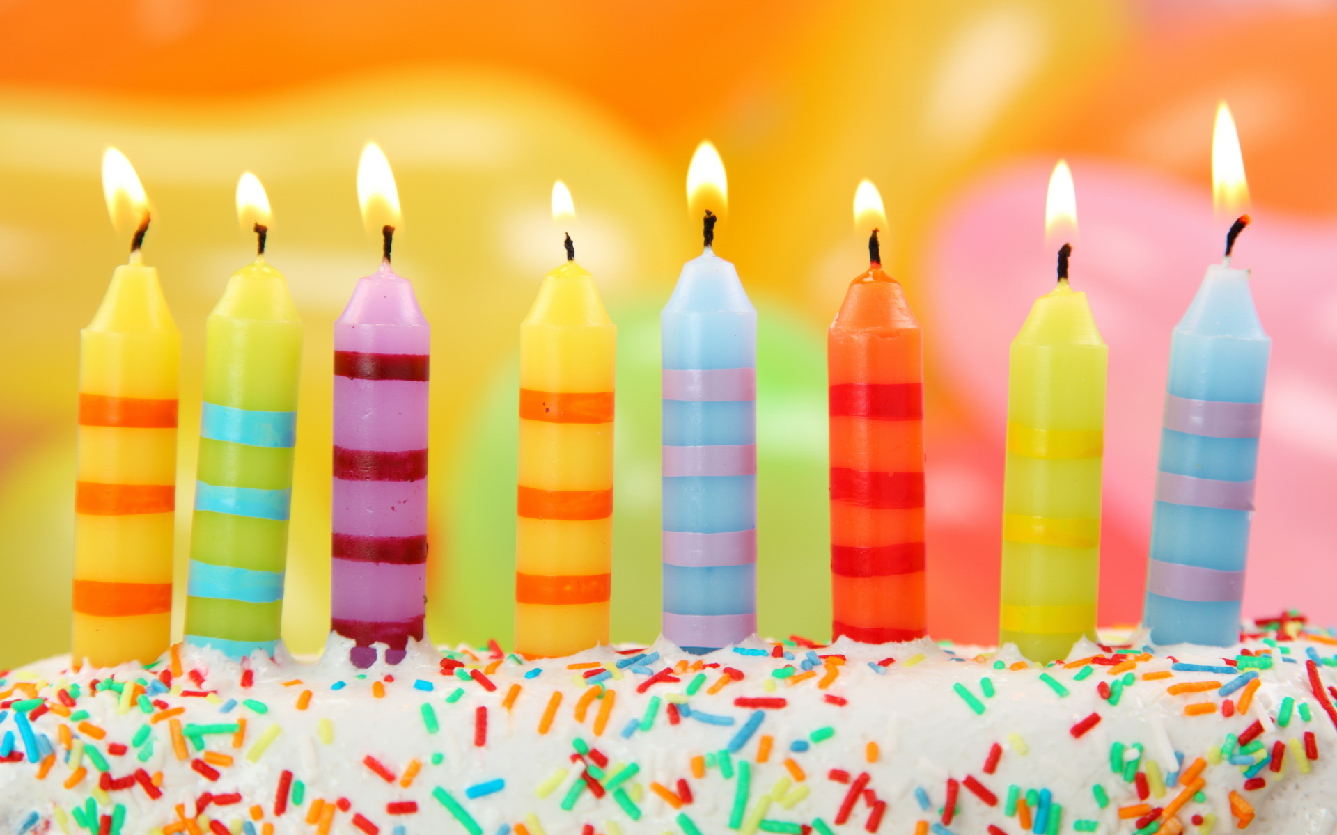Happy Birthday Candles PPT Backgrounds