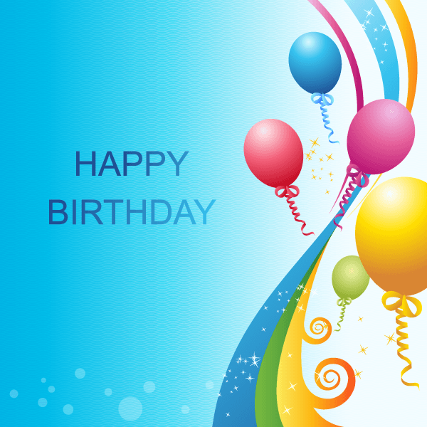 Happy Birthday Vector Template  123Freevectors Quality PPT Backgrounds