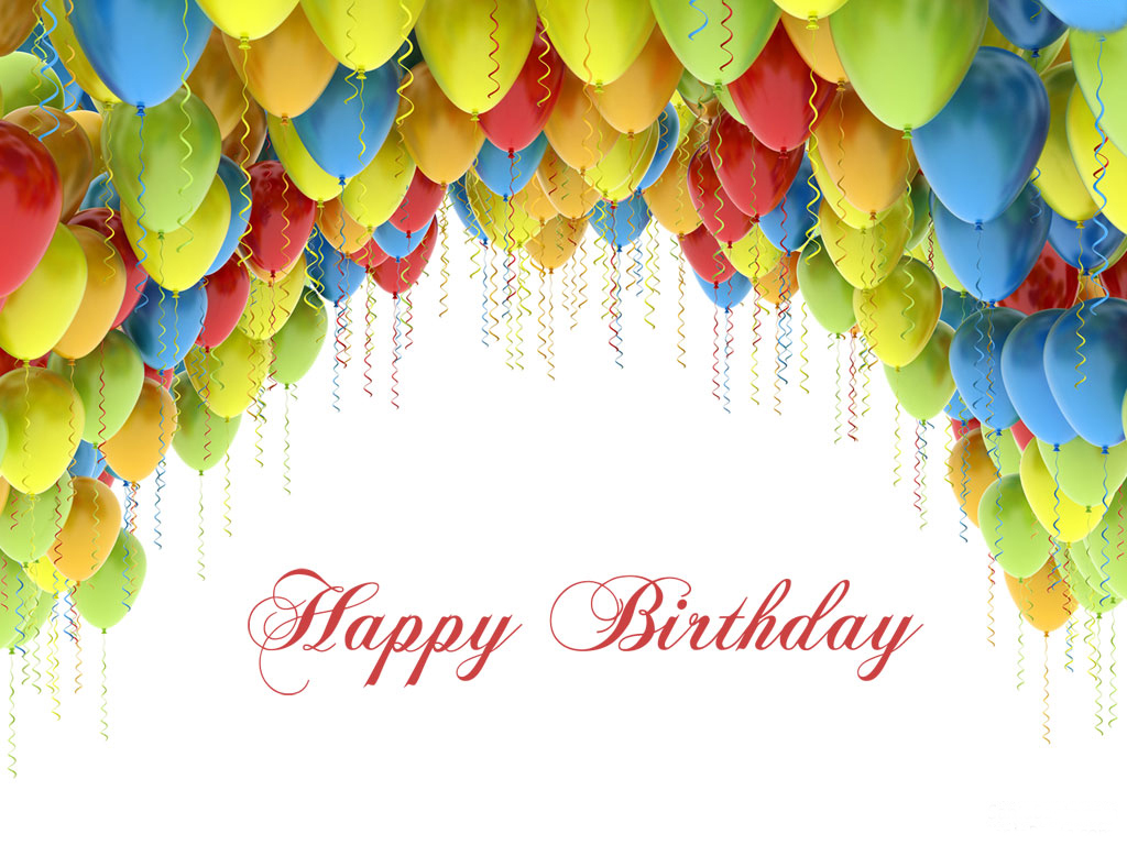 Happy Birthday with Balloons PPT Backgrounds