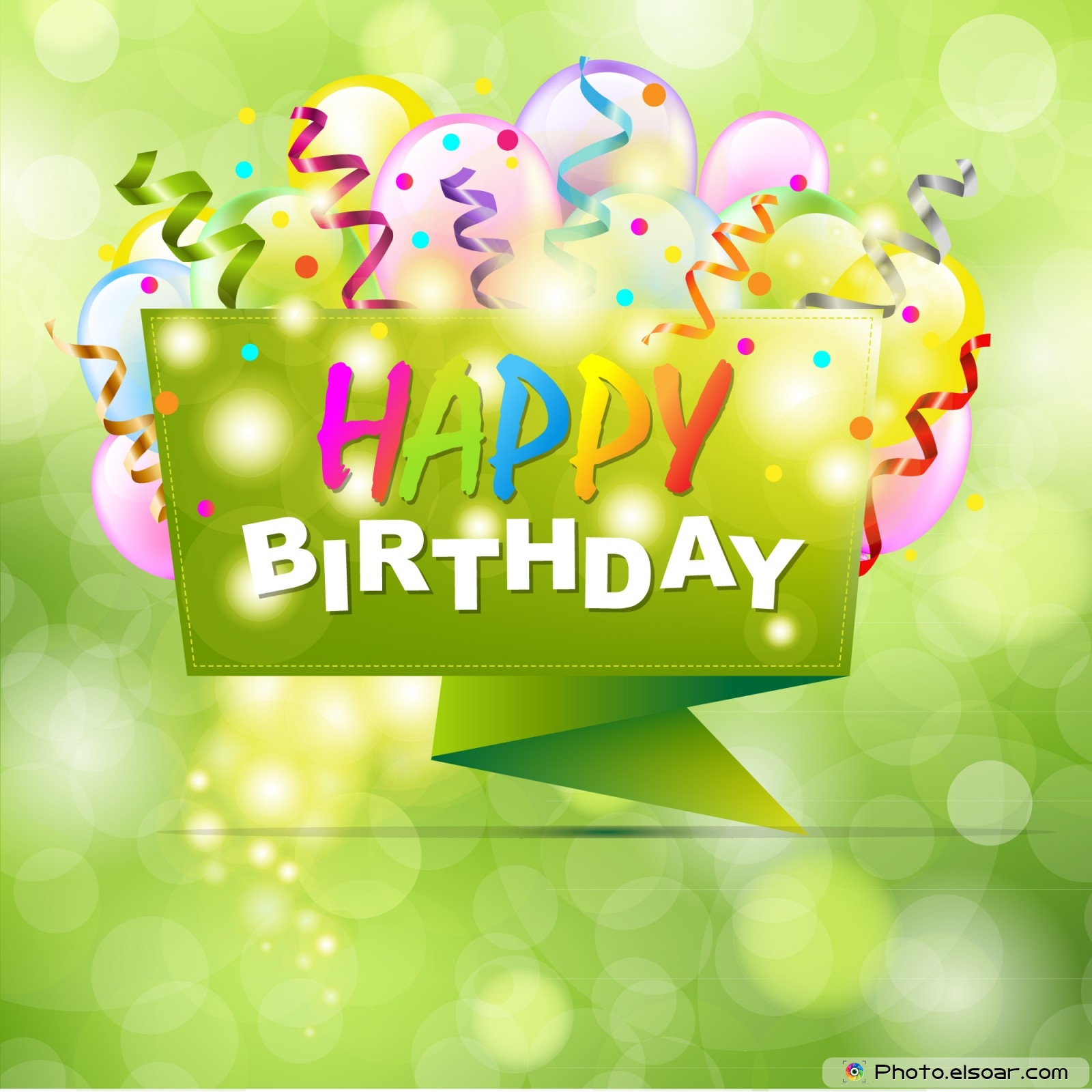 Happy Birthday With Origami and Bokeh Quality PPT Backgrounds