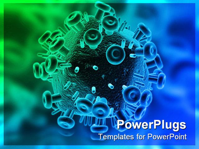 Download free Hiv Virus PowerPoint Template Of Aids Antivirus Artery ...