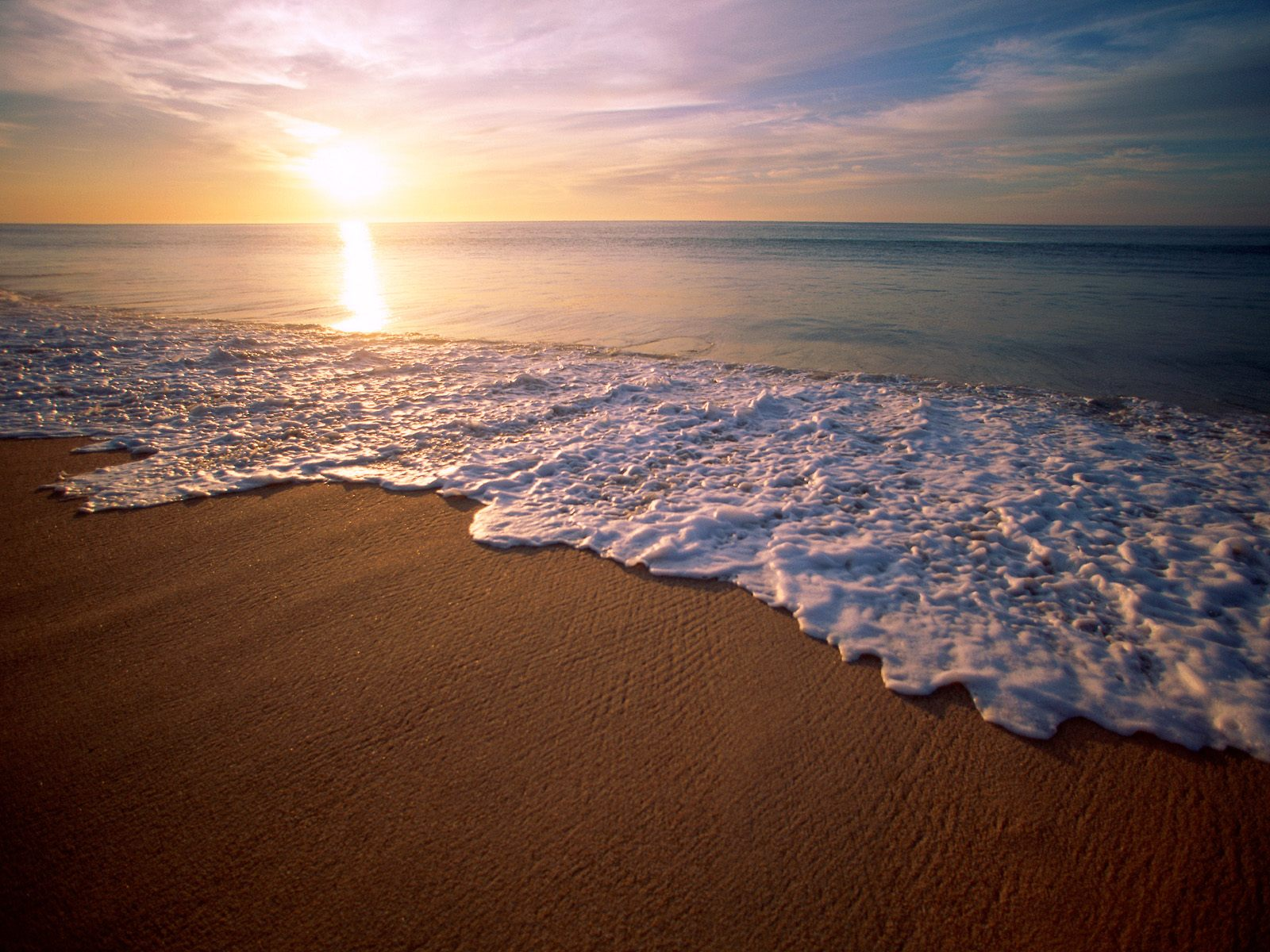 Holiday Beach Sunset PPT Backgrounds