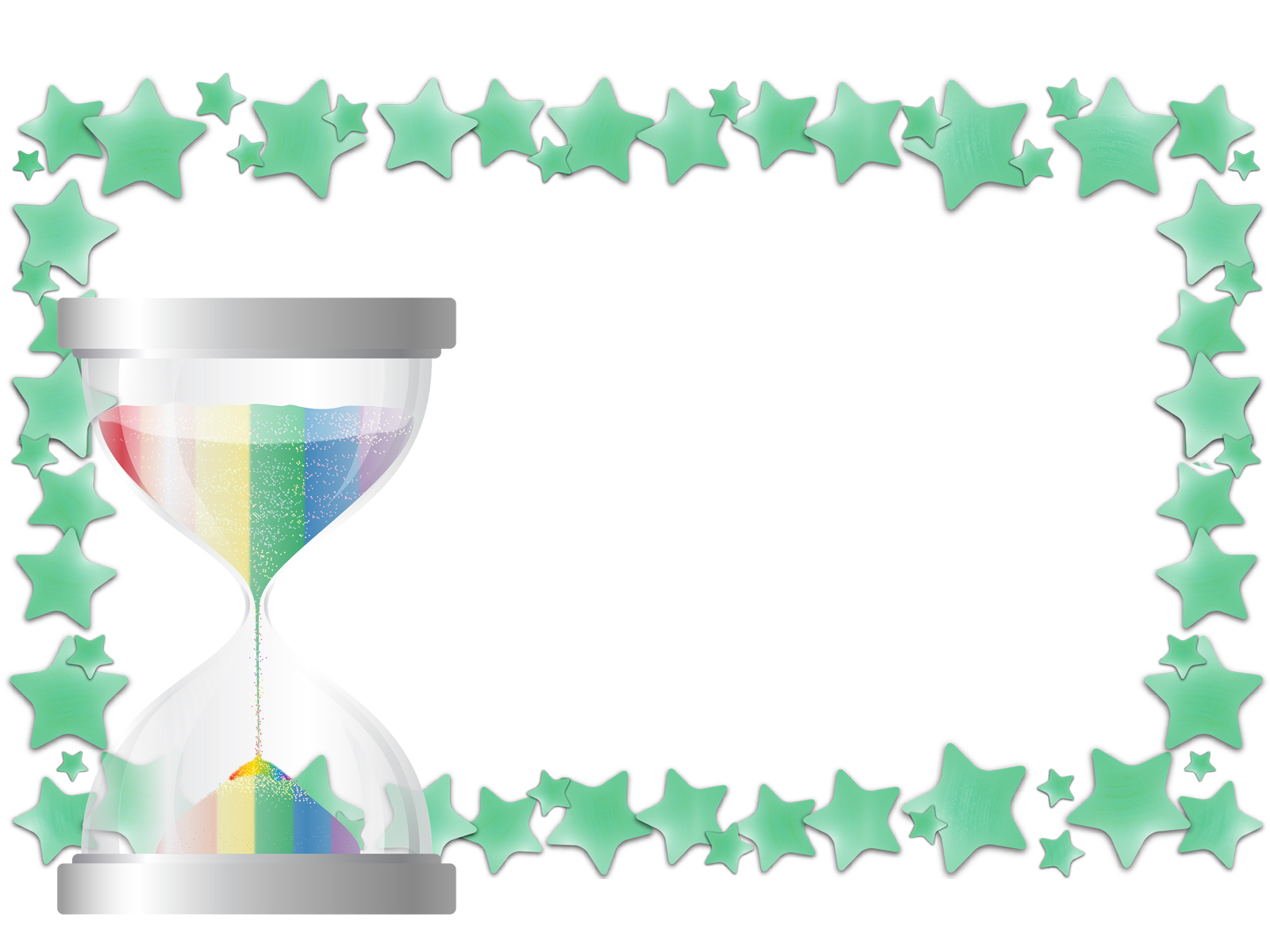 Hour Glass Star PPT Backgrounds