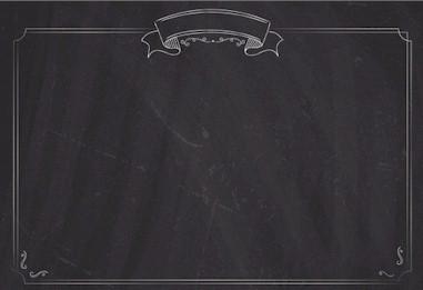Menu List Chalkboard With Border Wallpaper PPT Backgrounds
