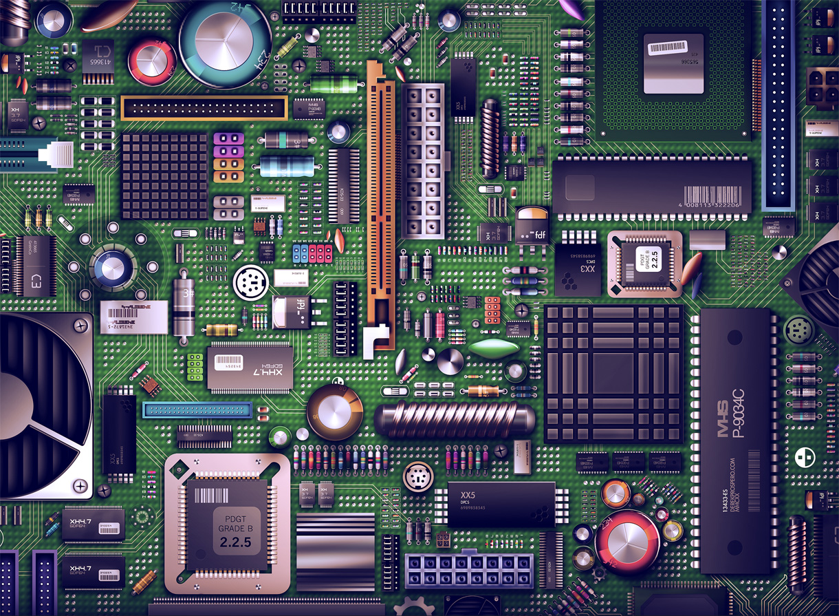 download free motherboard hd quality - ppt backgrounds