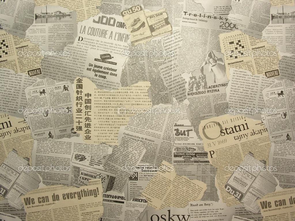 Newspaper Newsprint Images PPT Backgrounds