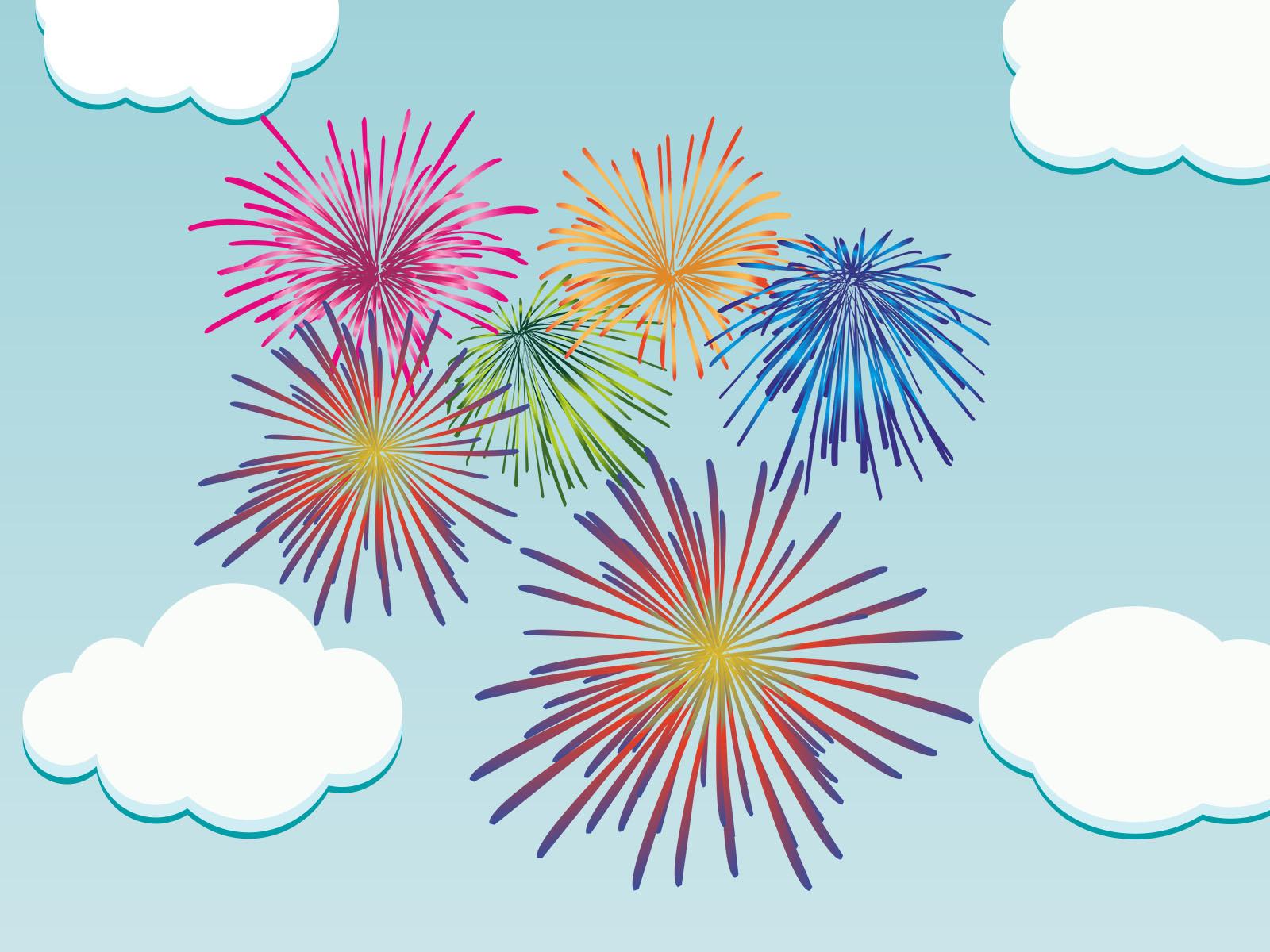 Nice Firework PPT Backgrounds