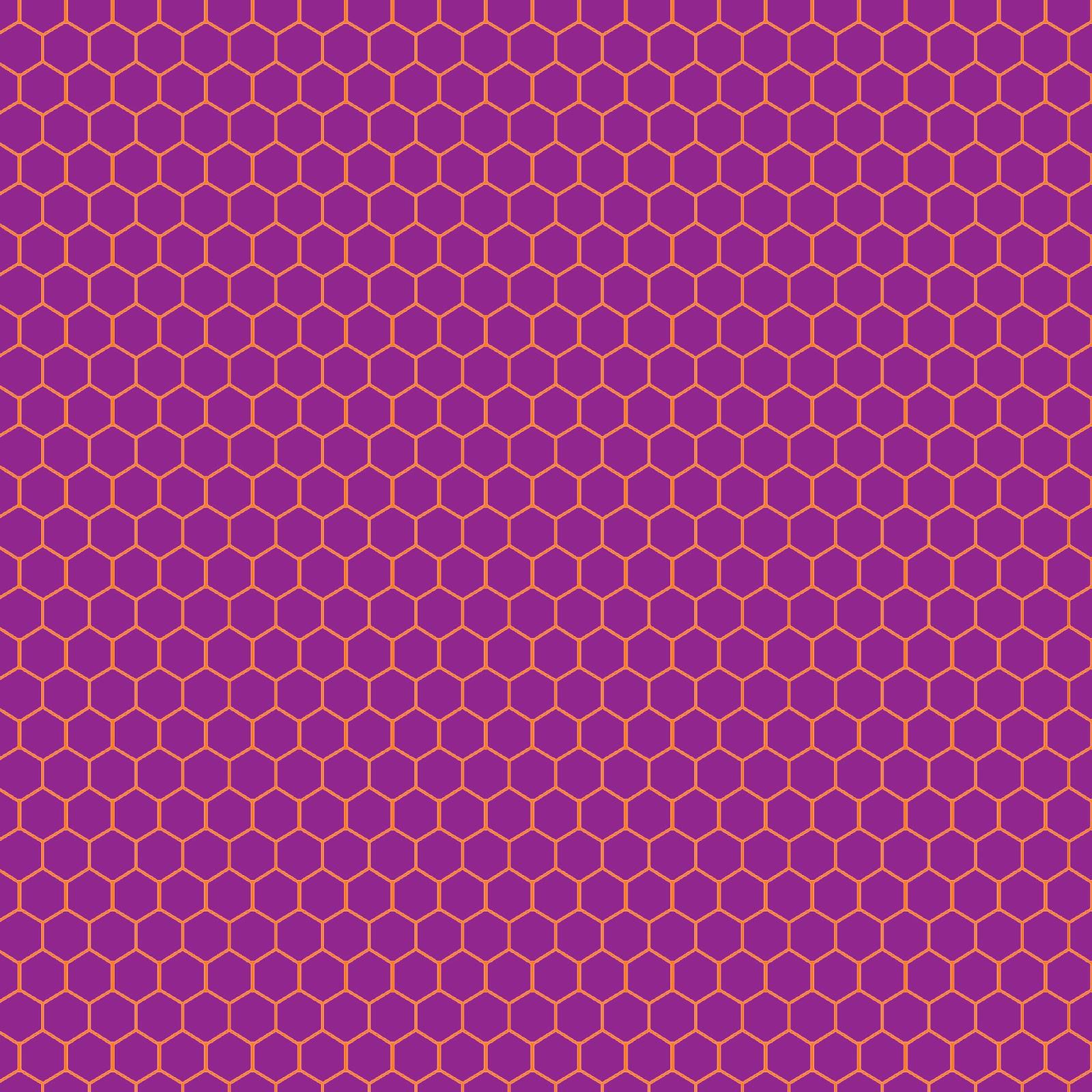 Purple Hexagon Honeycomb Freebie Pattern  Art PPT Backgrounds
