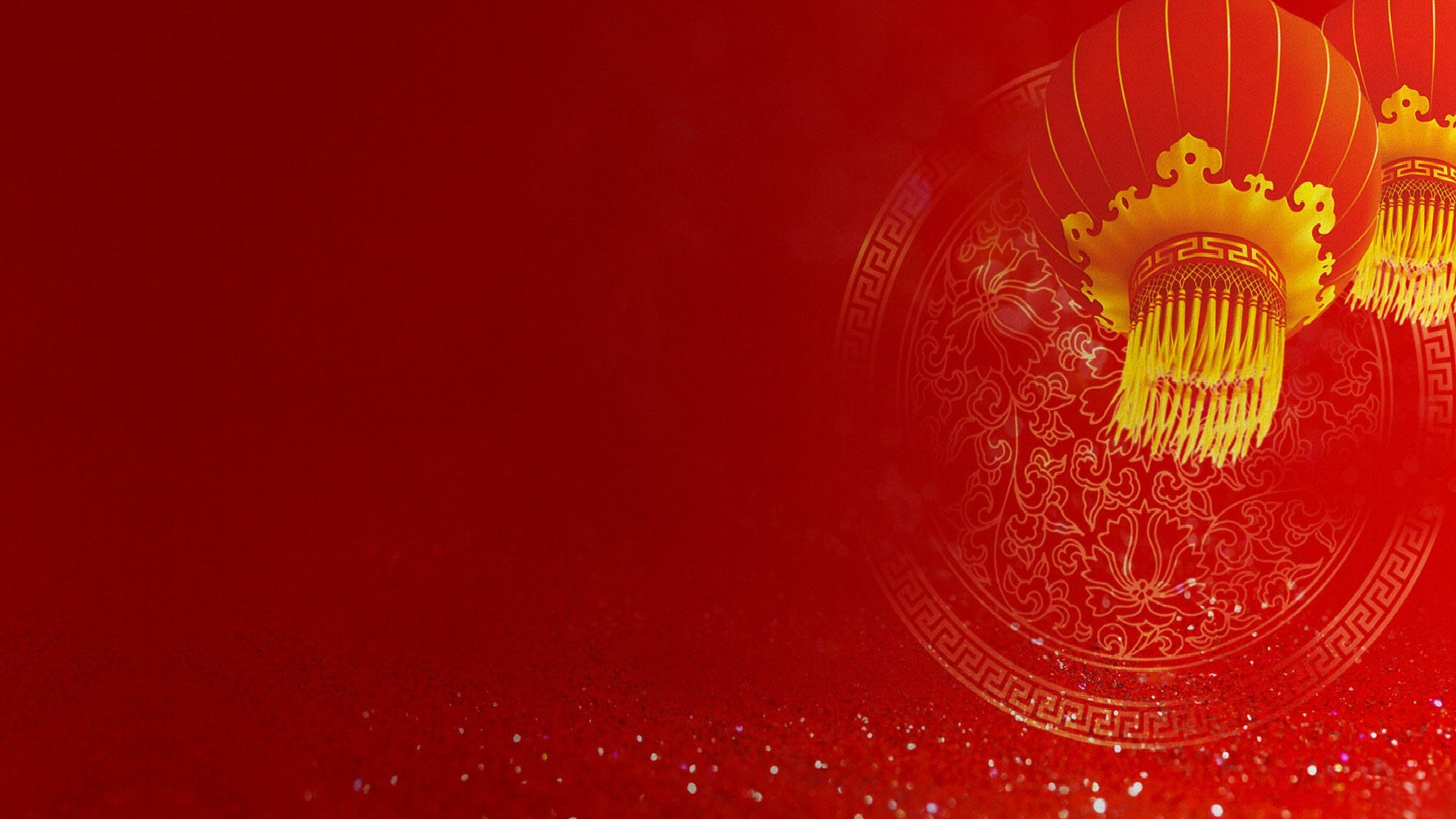 Red Chinese New Year Walpaper Pictures Photo PPT Backgrounds