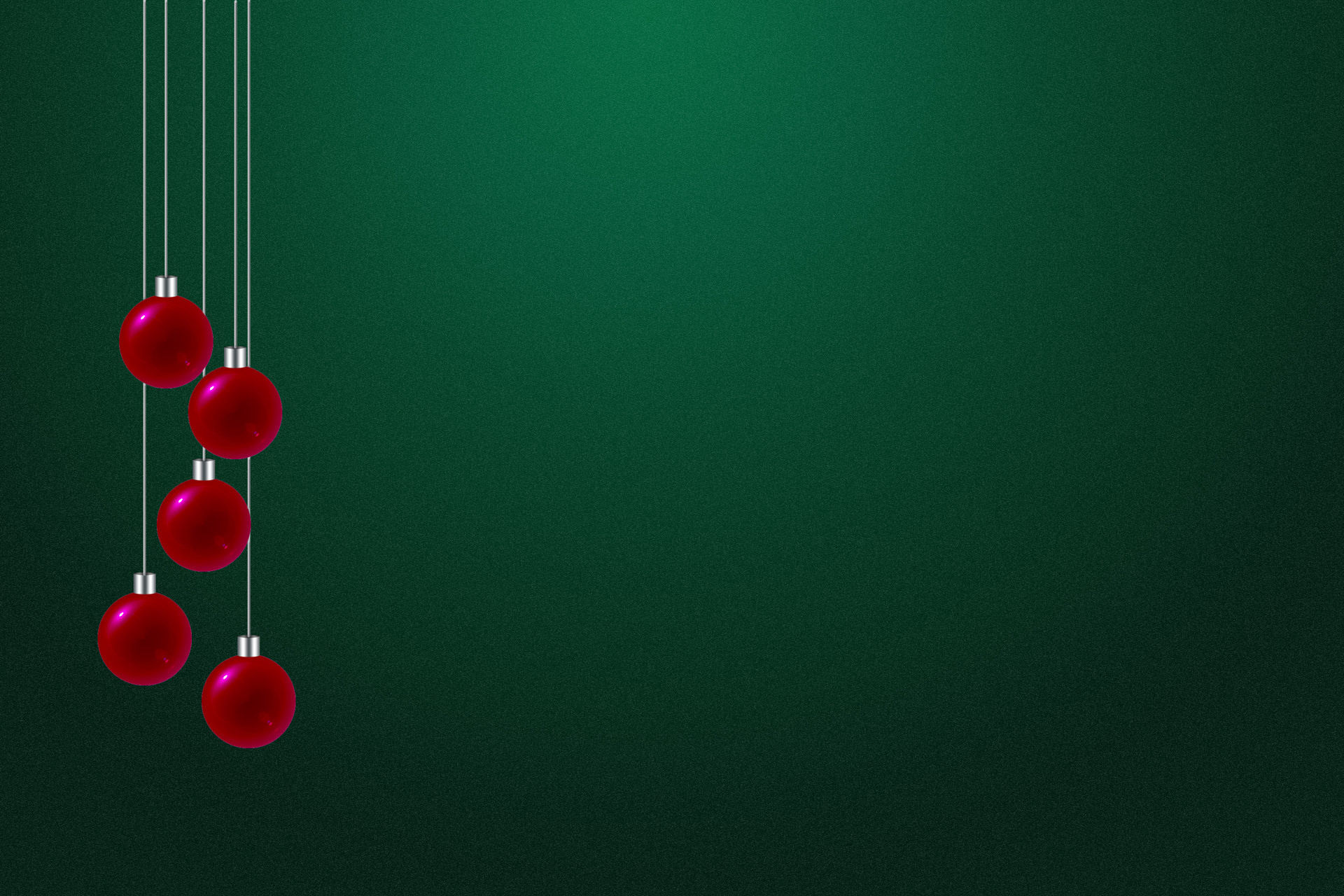 Red Green Christmas Art PPT Backgrounds