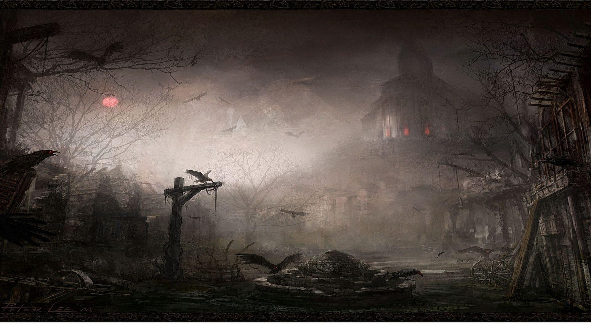 Scary Image Gallery Presentation Backgrounds for Powerpoint ...
