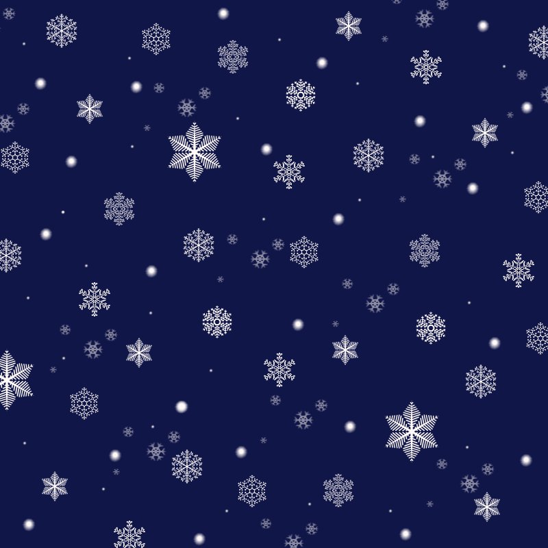Snowflake Blue Design Quality PPT Backgrounds