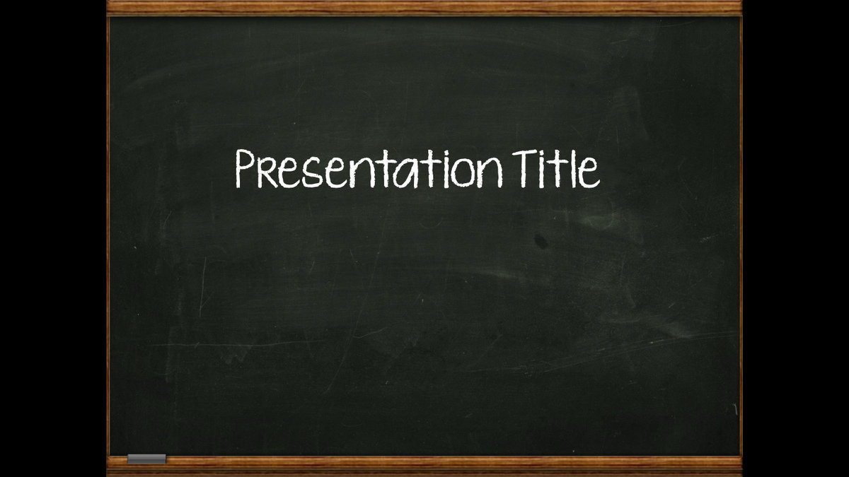 Superb Powerpoint Free Template Blackboard Picture