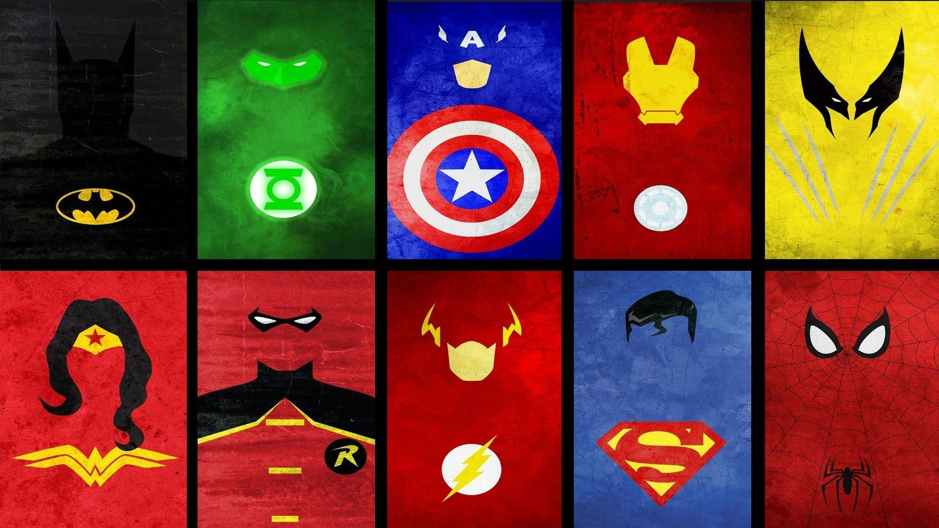 Superheroes Logoss Cave PPT Backgrounds