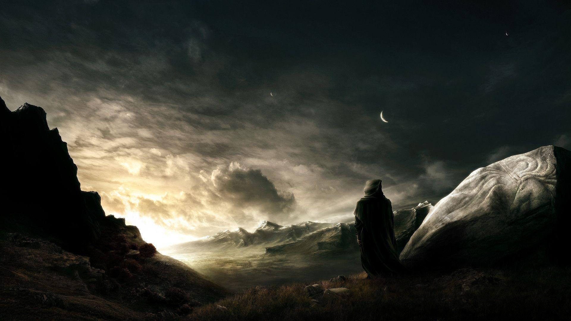 Wallpapers For > Final Fantasy Landscape Hd Photo Backgrounds for Powerpoint Templates - PPT Backgrounds