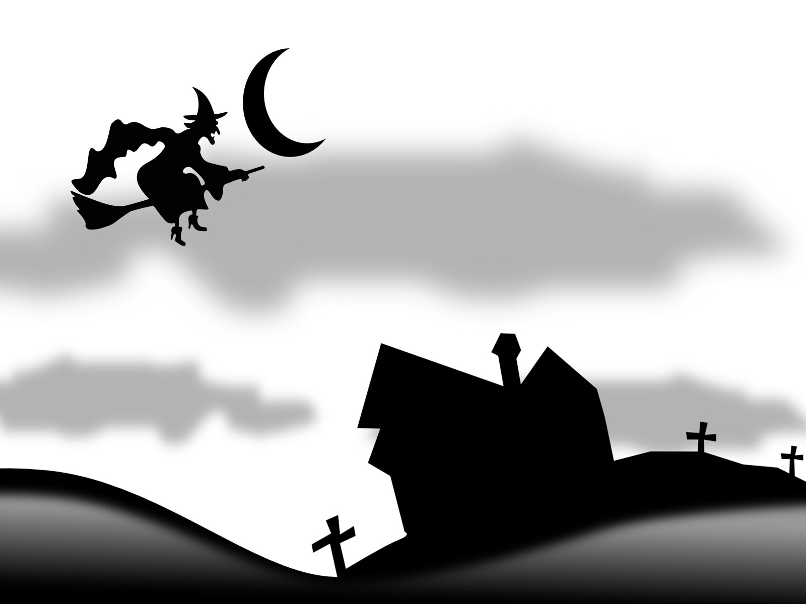 Witch Haunted PPT Backgrounds